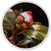 December Rose Round Beach Towel