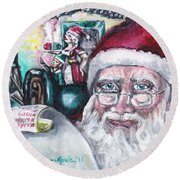 December Round Beach Towel by Shana Rowe Jackson
