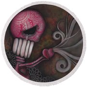 Deception Round Beach Towel by Abril Andrade Griffith