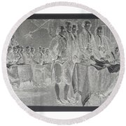 Declaration Of Independence In Negative Round Beach Towel