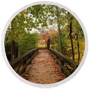 Decorate With Leaves - Holmdel Park Round Beach Towel