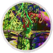 Dedicated To The Dance Of Colours Round Beach Towel