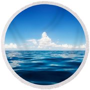 Deep Blue Round Beach Towel