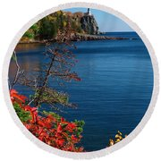 Deep Blue Superior Round Beach Towel by James Peterson