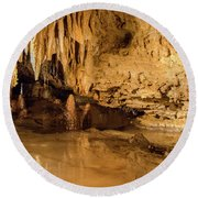 Deep In The Cave Round Beach Towel