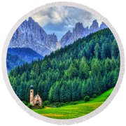 Deep In The Mountains Round Beach Towel