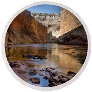 Deep Inside The Grand Canyon Round Beach Towel