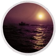 Deep Sea Fishing Off West Port Wa II Round Beach Towel by Greg Reed