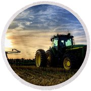 Deere Sunset Round Beach Towel