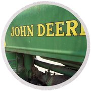 Deere Support Round Beach Towel