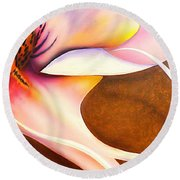 Defined Fine Lines Round Beach Towel