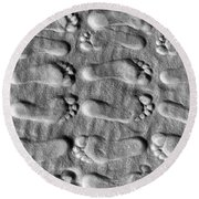 Deliberately Grainy Round Beach Towel