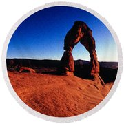 Delicate Arch, Arches National Park Round Beach Towel