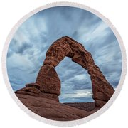 Delicate Arch Blue Hour Round Beach Towel