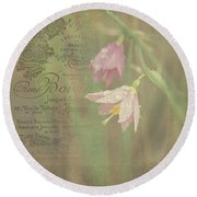 Delicate Blooms Round Beach Towel by Sharon Elliott
