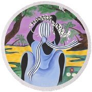 Delicate Cycle Round Beach Towel