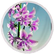 Delicate Flower... Round Beach Towel by Tim Fillingim