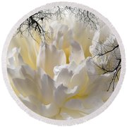 Delicate Round Beach Towel by Sherman Perry