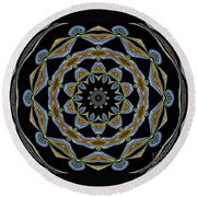 Delight Round Beach Towel by Oksana Semenchenko