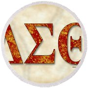 Delta Sigma Theta - Parchment Round Beach Towel by Stephen Younts
