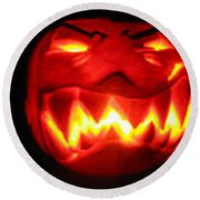 Demented Mister Ullman Pumpkin Round Beach Towel