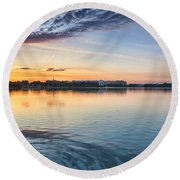 Round Beach Towel featuring the photograph Democracy Awakens by Sebastian Musial