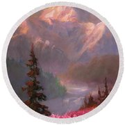 Denali Summer - Alaskan Mountains In Summer Round Beach Towel