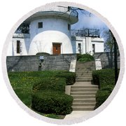 1u22 Swasey Observatory At Denison University Photo Round Beach Towel