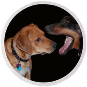 Round Beach Towel featuring the photograph Dentist by Mim White