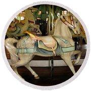 Dentzel Menagerie Carousel Horse Round Beach Towel