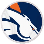 Denver Broncos Football Round Beach Towel