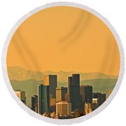 Denver Skyline Round Beach Towel