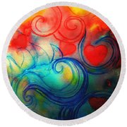 Depths Of His Love Round Beach Towel by Hazel Holland