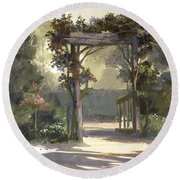 Descanso Gardens Round Beach Towel