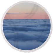 Descent Round Beach Towel