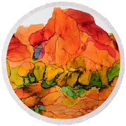Desert Beauty 6 Round Beach Towel by Vicki  Housel