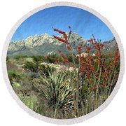 Desert Bloom Round Beach Towel