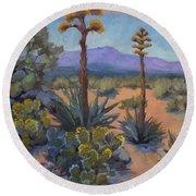 Desert Century Plants Round Beach Towel