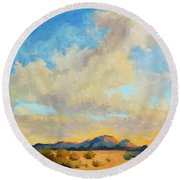 Desert Clouds Round Beach Towel