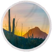 Desert Colors Round Beach Towel