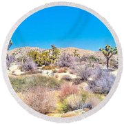 Round Beach Towel featuring the photograph Desert Spring by Angela J Wright