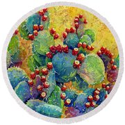 Desert Gems Round Beach Towel