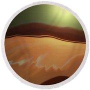 Desert Heat II Round Beach Towel by Jennifer Muller