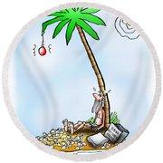 Desert Island Christmas Round Beach Towel
