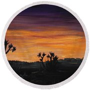 Desert Night Round Beach Towel by Anastasiya Malakhova