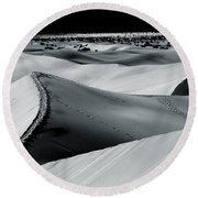 Desert Night Death Valley By Diana Sainz Round Beach Towel