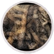 Desert Twigs Round Beach Towel