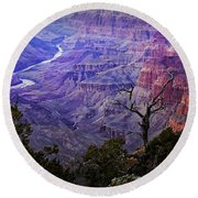 Desert View Sunset Round Beach Towel