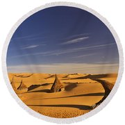 Desert Village Round Beach Towel
