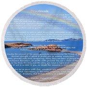 Desiderata  Round Beach Towel by Barbara Griffin
